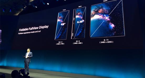 华为发布5G折叠屏手机 Mate X